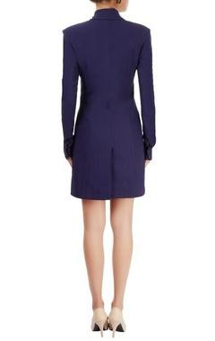 Navy blue blazer dress