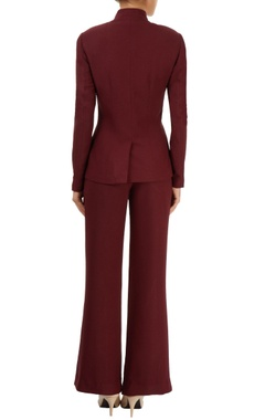 Wine red blazer & trousers