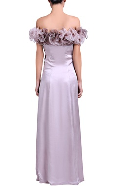 Light lilac gown with shaded ruffle