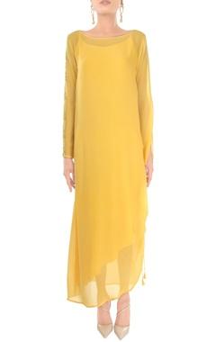 Primrose yellow midi dress