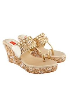 Essem Gold wedges with embellishments