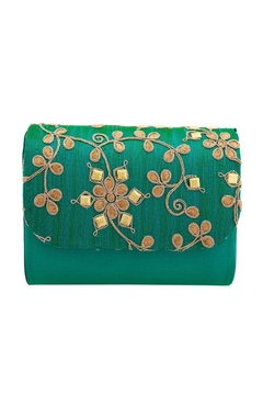 turquoise clutch with dori work