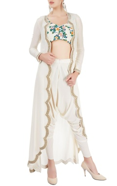 Sonaakshi Raaj Ivory pant set with jacket