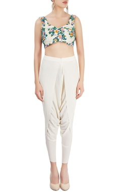 Ivory pant set with jacket