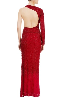 Red straight fit gown