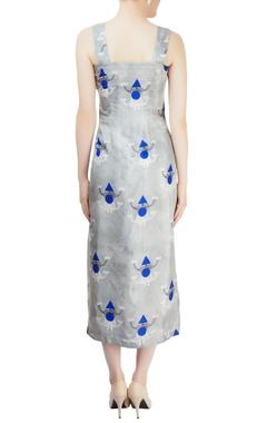 Grey asymmetric midi dress