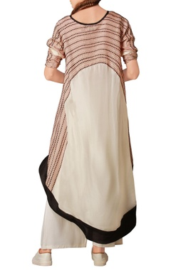 Blush pink & white asymmetric kurta