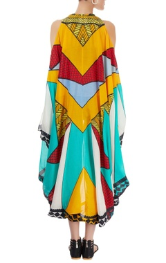 Multi-colored quirky long jacket