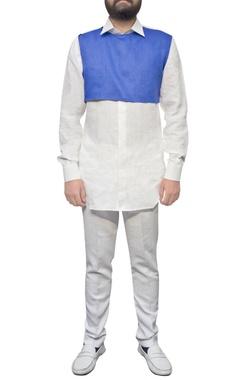 Paresh Lamba White straight fit trousers