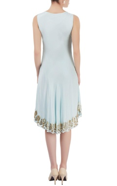 Light blue midi with bead embroidery