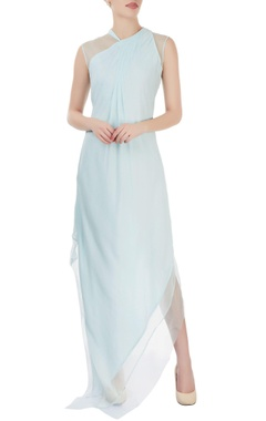 Light blue layered maxi