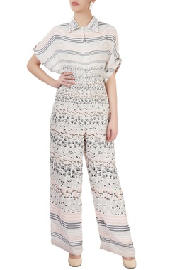 Dev R Nil White printed jumpsuit