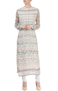Dev R Nil White printed long kurti