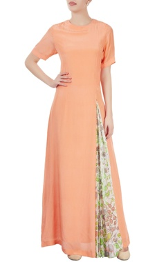 Dev R Nil Peach maxi with print