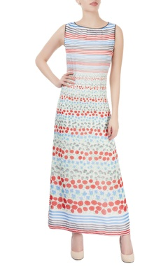 Dev R Nil White maxi with floral print