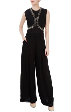 Dev R Nil Black embellished jumpsuit