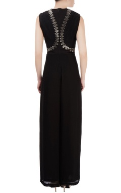 Black embellished jumpsuit