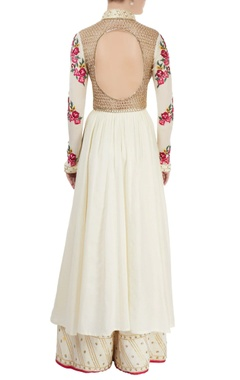 white embroidered palazzo set