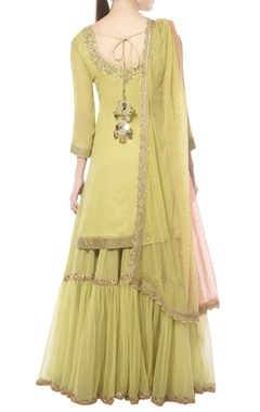 Light green zardozi gharara set