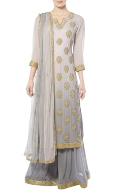 shaded grey sharara set with sequins