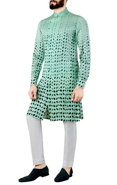 Mint green printed kurta
