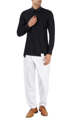 Black shirt with fabric detailing