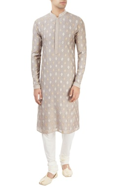 light grey embroidered kurta