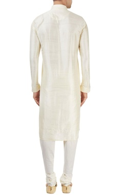 ivory kurta with embroidery