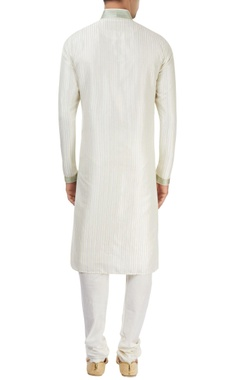 off-white kurta with embroidery