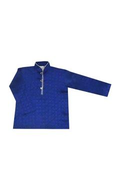 royal blue silk kurta set