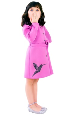 Radiant pink trench coat