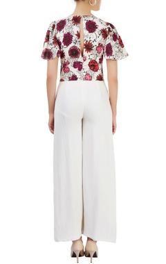White printed jumpsuit