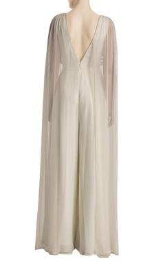 White tasseled jumpsuit