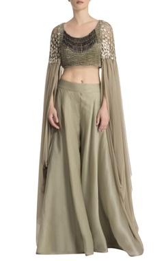 Ridhima Bhasin Green draped pant set