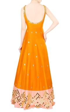 Orange embroidered kurta set