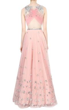 Blush pink embroidered bridal lehenga set