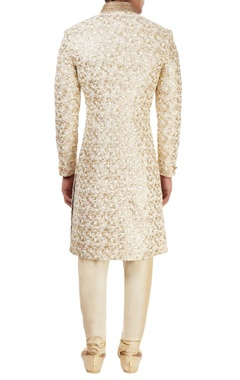 Ivory embroidered sherwani
