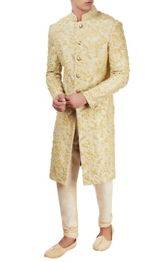 pista hand embroidered sherwani