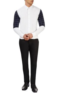 Sahil Aneja White shirt with checkered print
