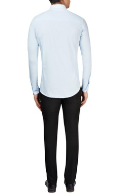 Light blue paneled shirt