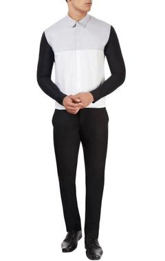 Sahil Aneja White shirt with black sleeves