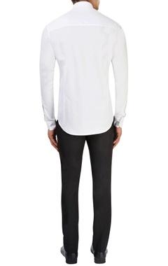 White & blue shirt