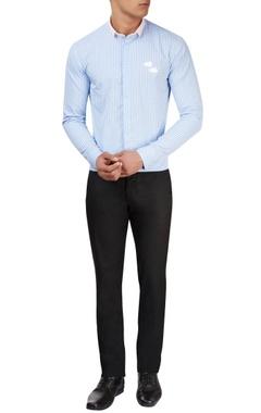 Sahil Aneja Light blue & white checkered shirt