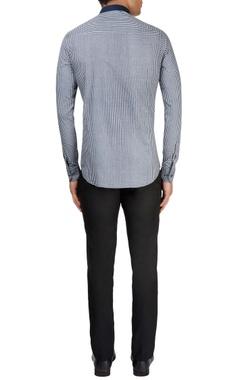 Dark blue & white checkered shirt
