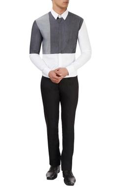 Sahil Aneja White & grey shirt