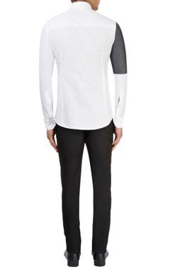 White & grey shirt