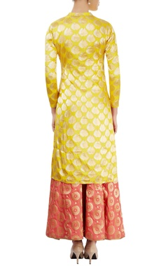 Yellow kurti with gold embellishment