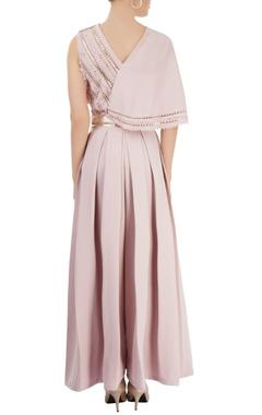 Dusky pink pleated jumpsuit