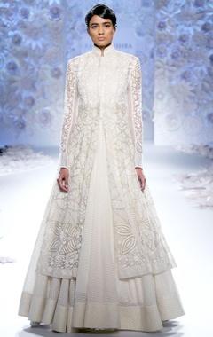 Ivory embroidered maxi dress & kalidar kurta