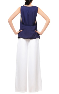 Navy blue layered top